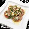 Салат с тунцом, фасолью, яйцами, помидорами и оригинальной заправкой