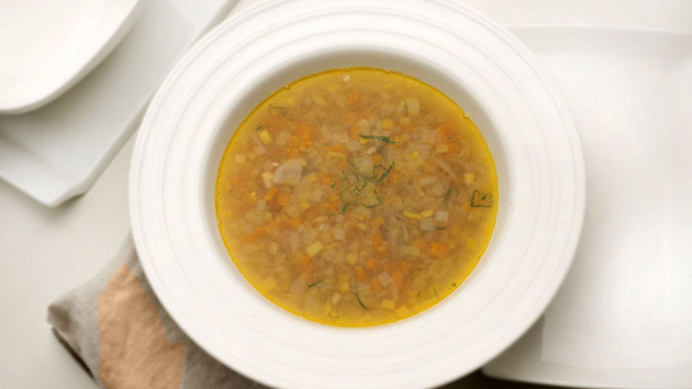 Грибной суп с гречкой и чечевицей